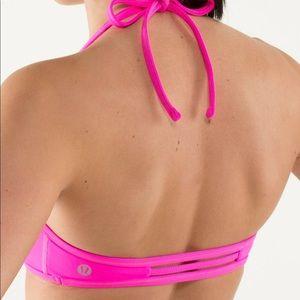 Lululemon bra halter hot pink bathing suit yoga
